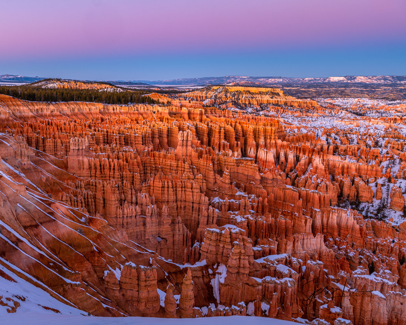 Limited Edition of 50 Exclusive high-resolution Museum Quality Fine Art Prints of Winter Morning Glow over the Red Rocks Country...