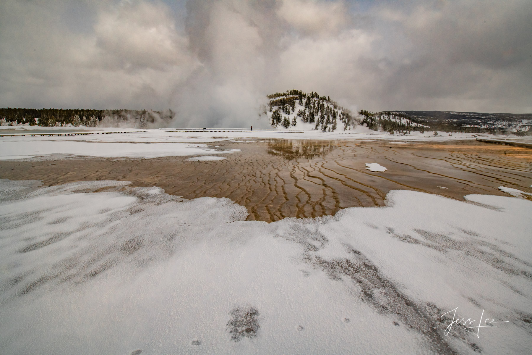 Yellowstone Hot Springs Photography in winte by Jess Lee