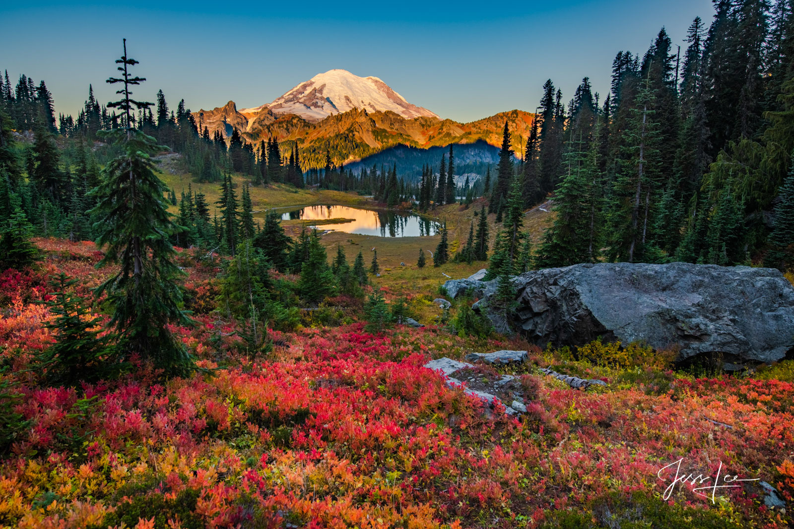 Fine Art Landscape Photography A Limited Edition of 200 prints of Mt Rainier National Park Washington, In Beautiful Fall Color...