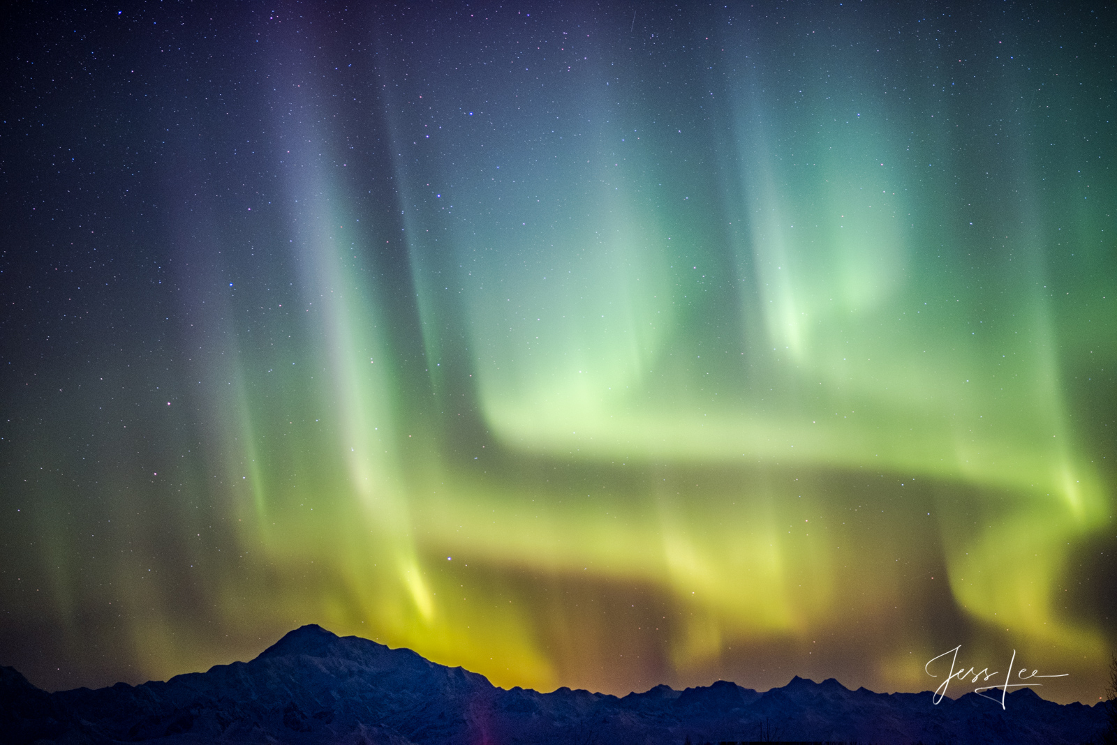 Limited Edition of 50 Exclusive high-resolution Museum Quality Fine Art Prints of the Northern Light Dancing over Denali. Photos...
