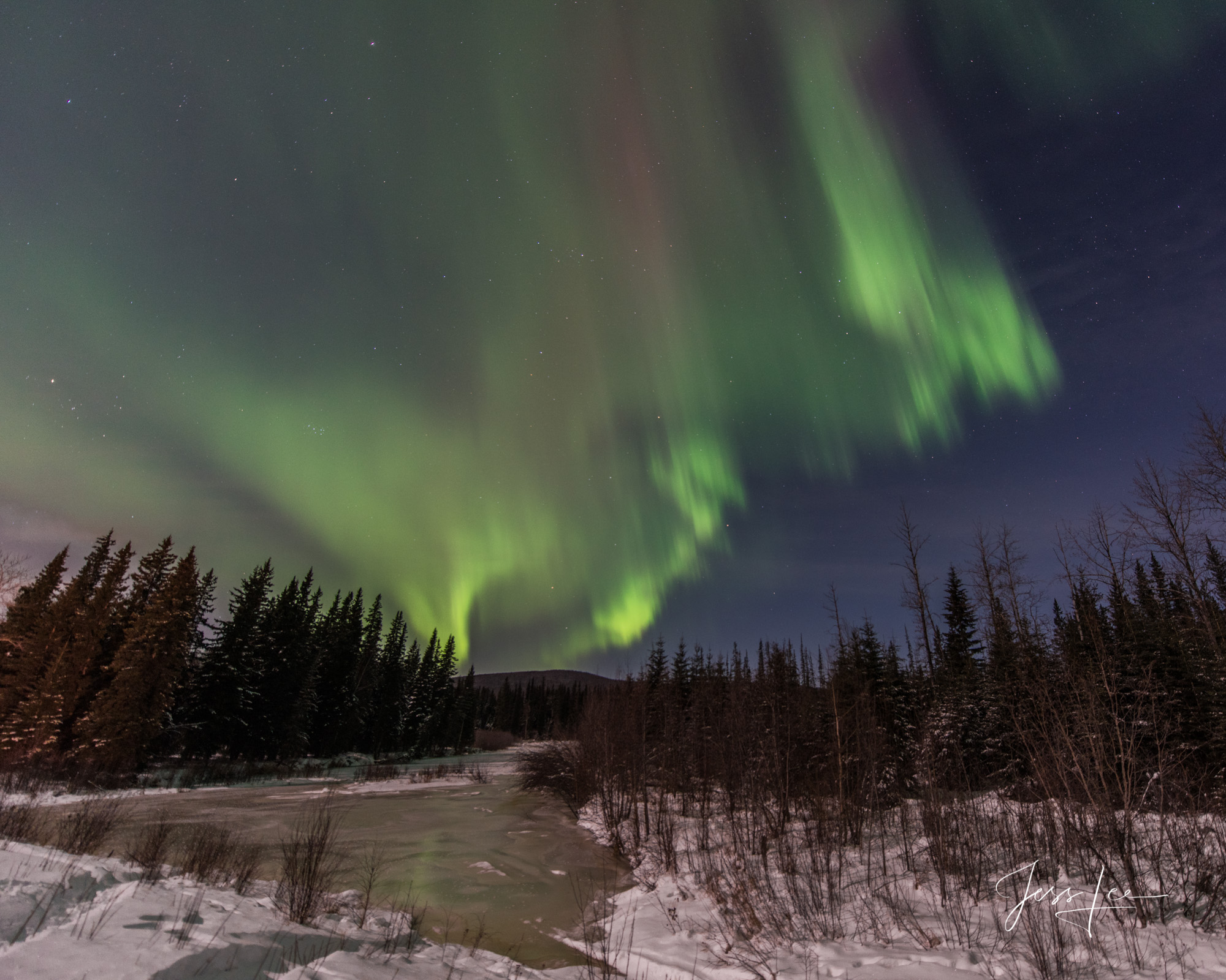 Limited Edition of 50 Exclusive high-resolution Museum Quality Fine Art Printsof the Northern Lights over an Alaska Marsh. Photos...