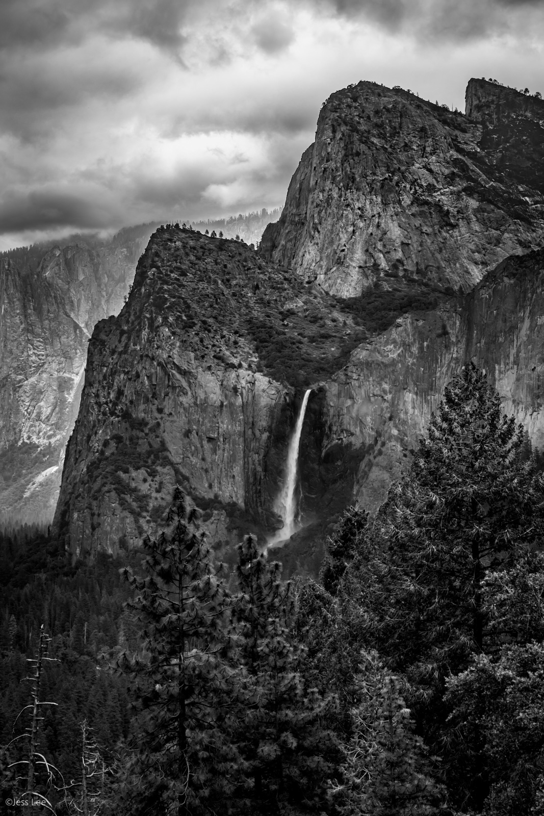Fine Art Limited Edition Photography Print of Bridal  Vail Falls . California Landscape Print of Yosemite valley.This is part...