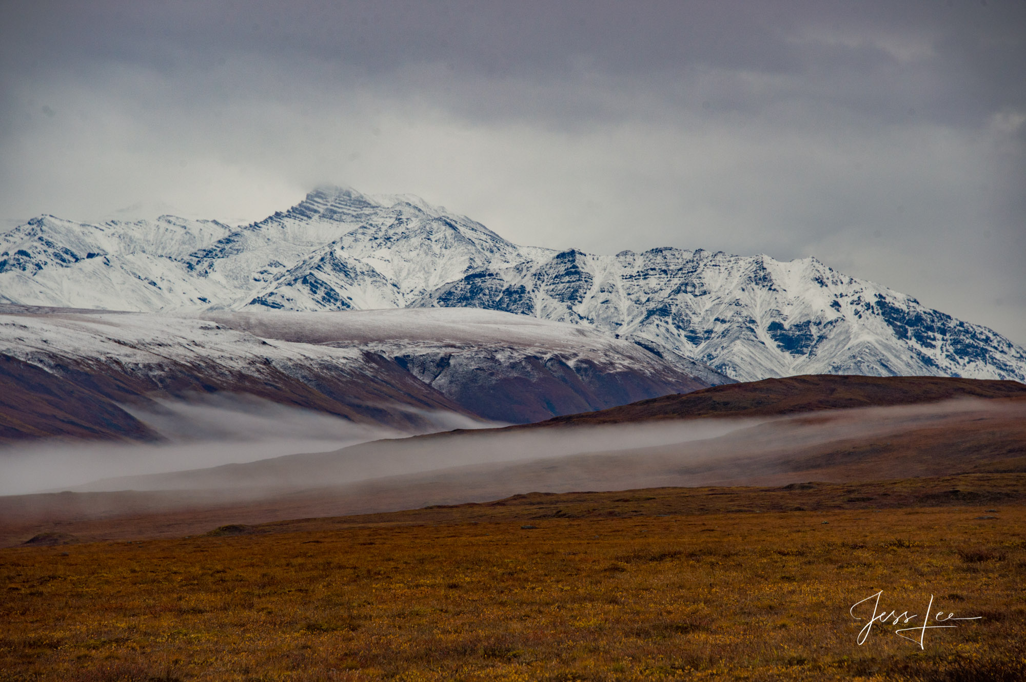 Autumn colors take hold in the Brooks Range in Alaska.