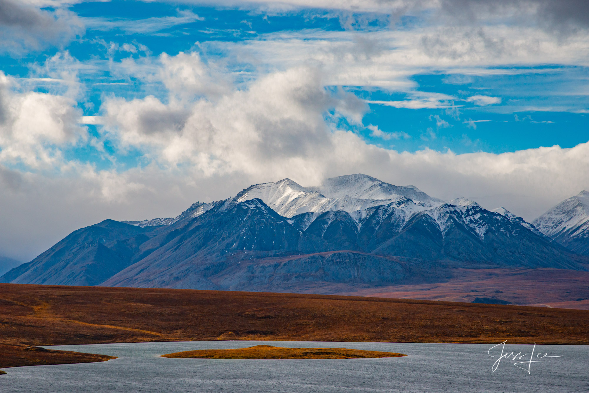 Fine Art Limited Edition Photography of the Arctic.'s Brooks Mt. Range Arctic Brooks Range Blue Sky Landscapes.This is part of...