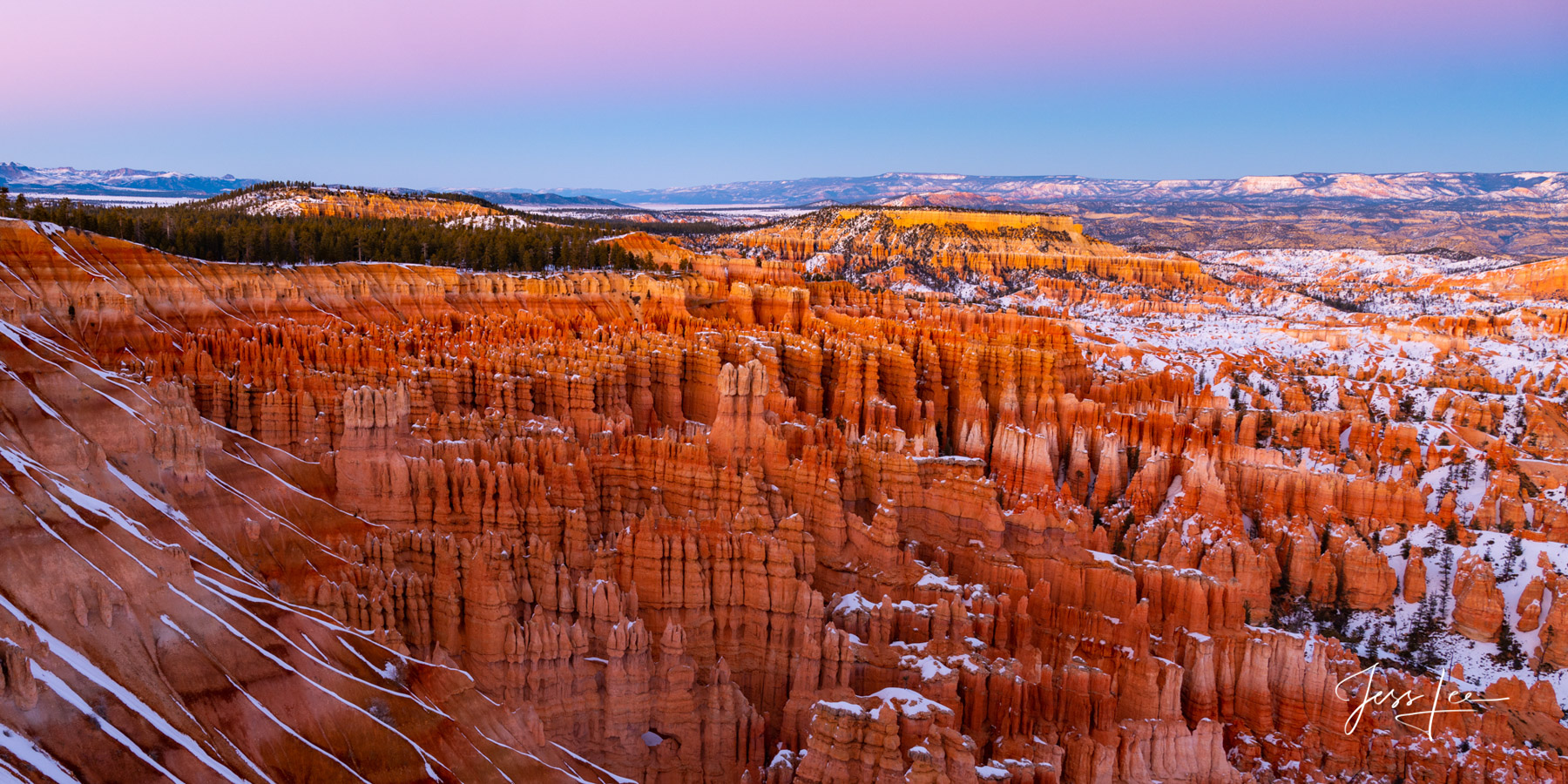 Limited Edition of 50 Exclusive high-resolution Museum Quality Fine Art Prints of Bryce Canyon Panorama Photography. Photos copyright...