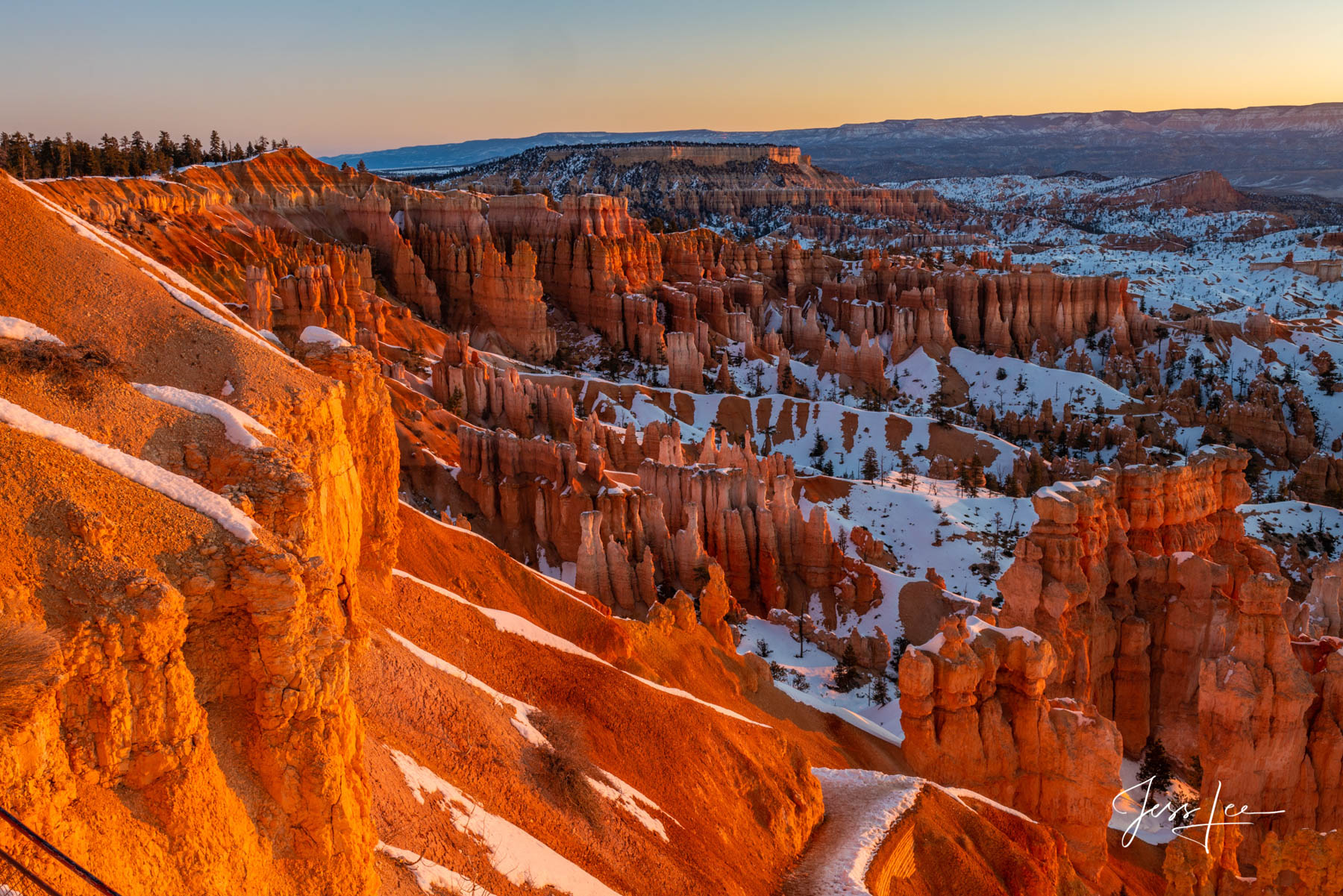 Limited Edition of 50 Exclusive high-resolution Museum Quality Fine Art Prints of Red Rocks Morning in Bryce Canyon in the American...