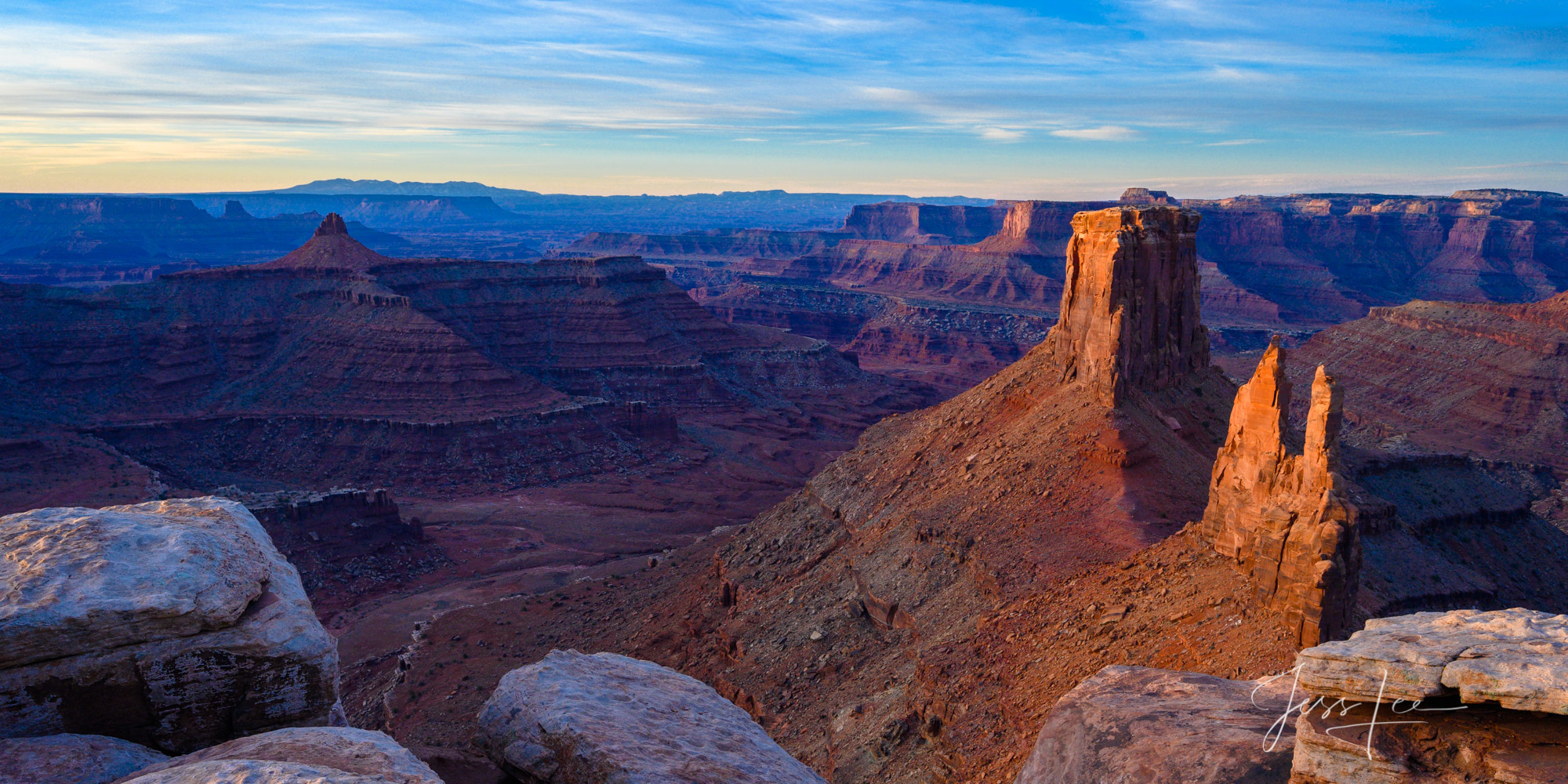 Morning view of Canyonlands