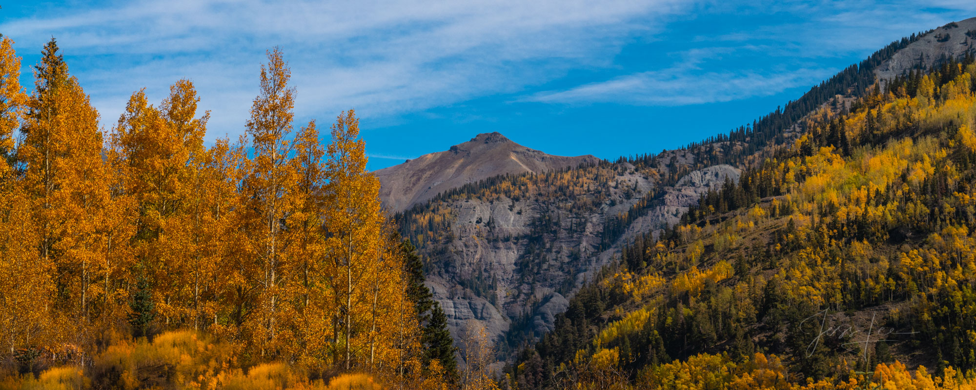 A Colorado Fall Color Panoramic print sunrise during the peak of Autumn Color in southeast Colorado. A limited Edition Fine Art...