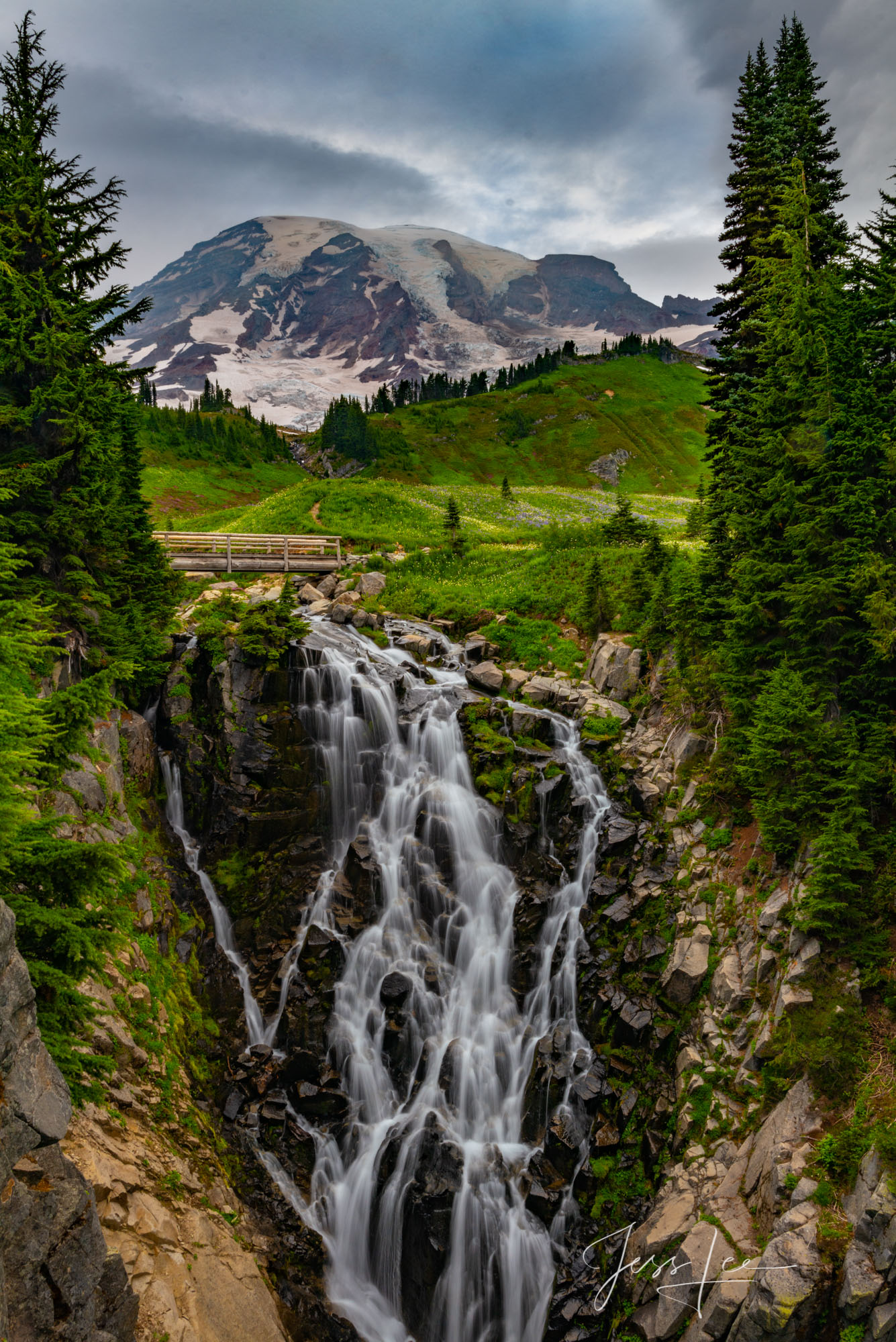Beautify  your space  with Jess Lee's limited edition photography print, Beyond the Bridge, from his Mount Rainier Gallery ....