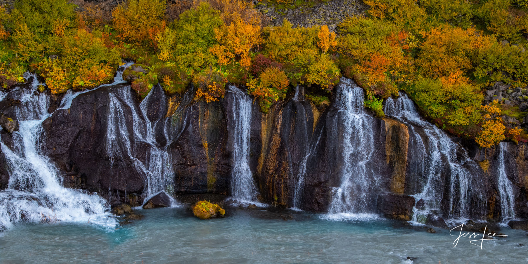Limited Edition of 50 Exclusive high-resolution Museum Quality Fine Art Prints of Panorama Photography of Iceland waterfalls ....