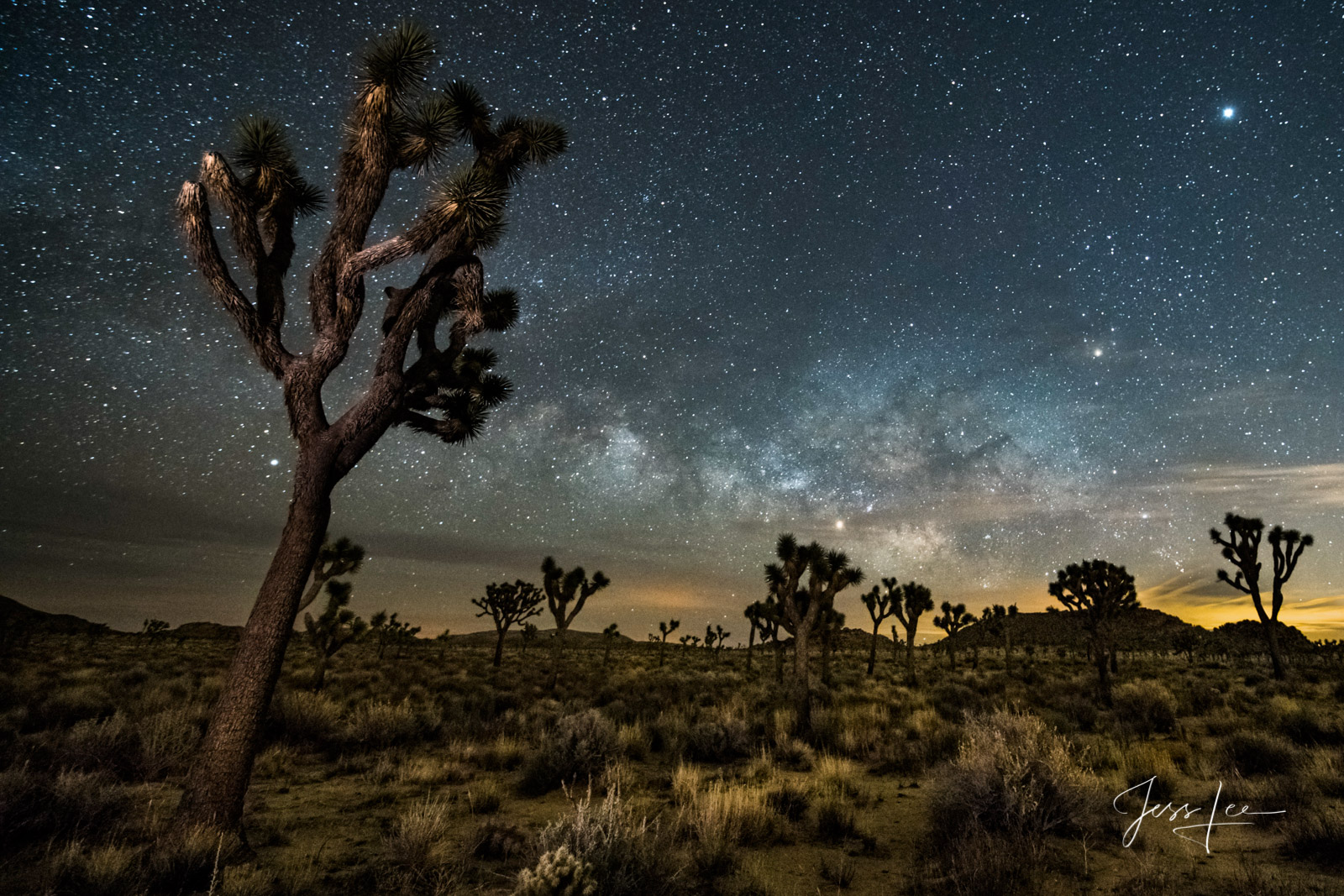 Limited Edition of 50 Exclusive high-resolution Museum Quality Fine Art Prints of the Night Sky photographed in Joshua Tree....