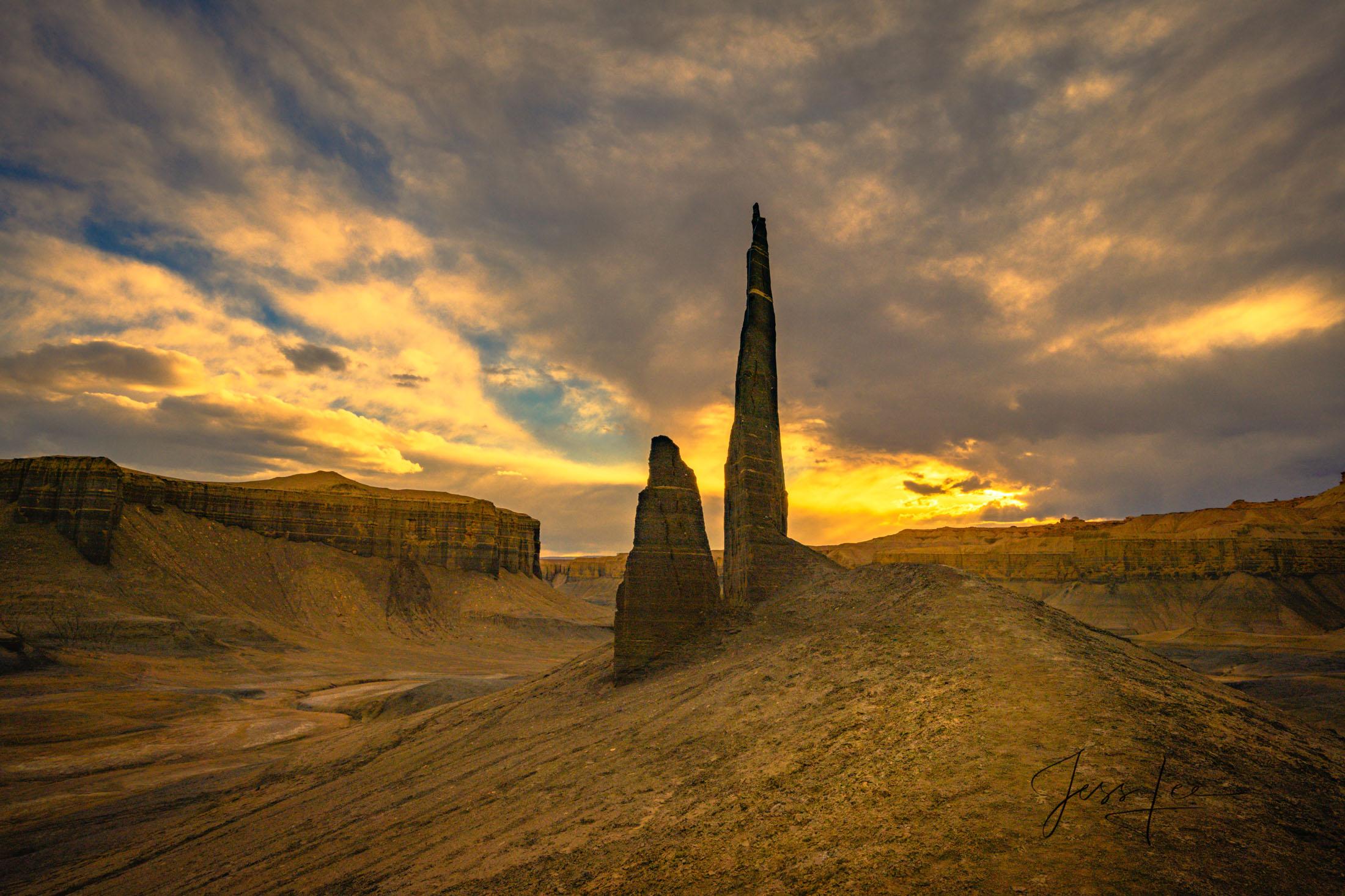 Fine Art Photographic print of Desert Monoliths in Utah's San Rafael Swell