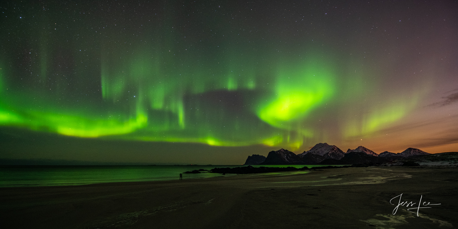 Limited Edition of 50 Exclusive high-resolution Museum Quality Fine Art Prints the Northern Norway Northern Lights. Photos copyright...