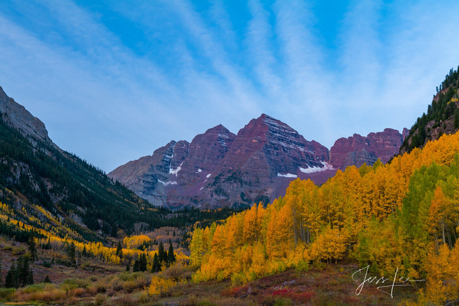 A Colorado Fall Color Print of the San Juan Mountains during the peak of Autumn Color in southeast Colorado. A limited Edition...