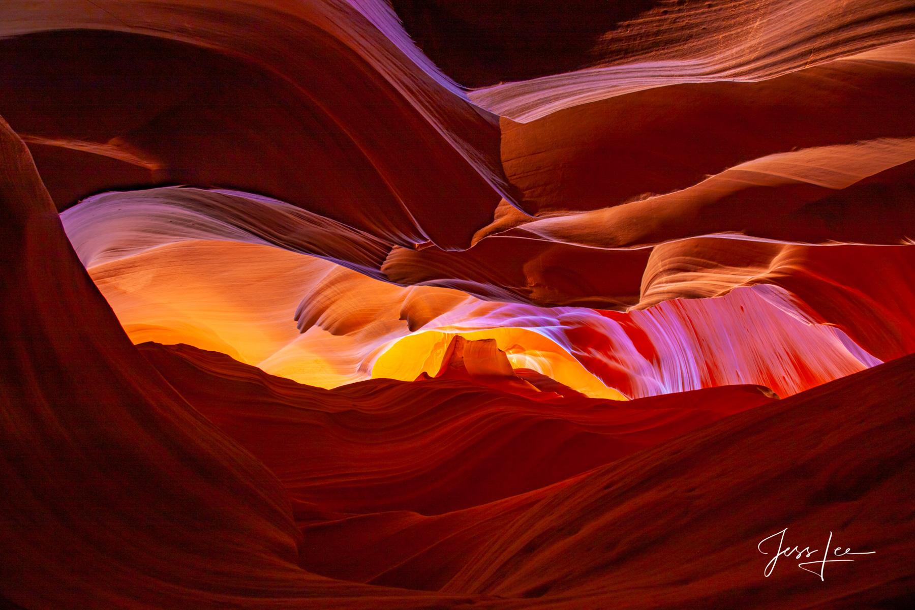 Beautiful patterns in Arizona's Antelope Canyon.