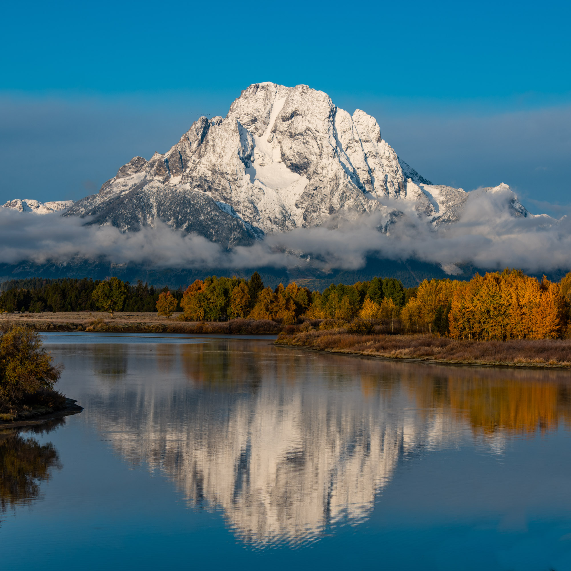Wyoming Magic at Mount Moran in Grand Teton National Park.  250 Limited edition prints of this beautiful snow clad mountain reflecting...