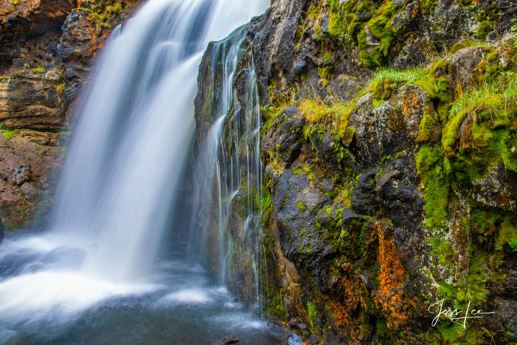 Limited Edition of 50 Exclusive high-resolution Museum Quality Fine Art Prints of this mossy falls in a place sacred to Native...