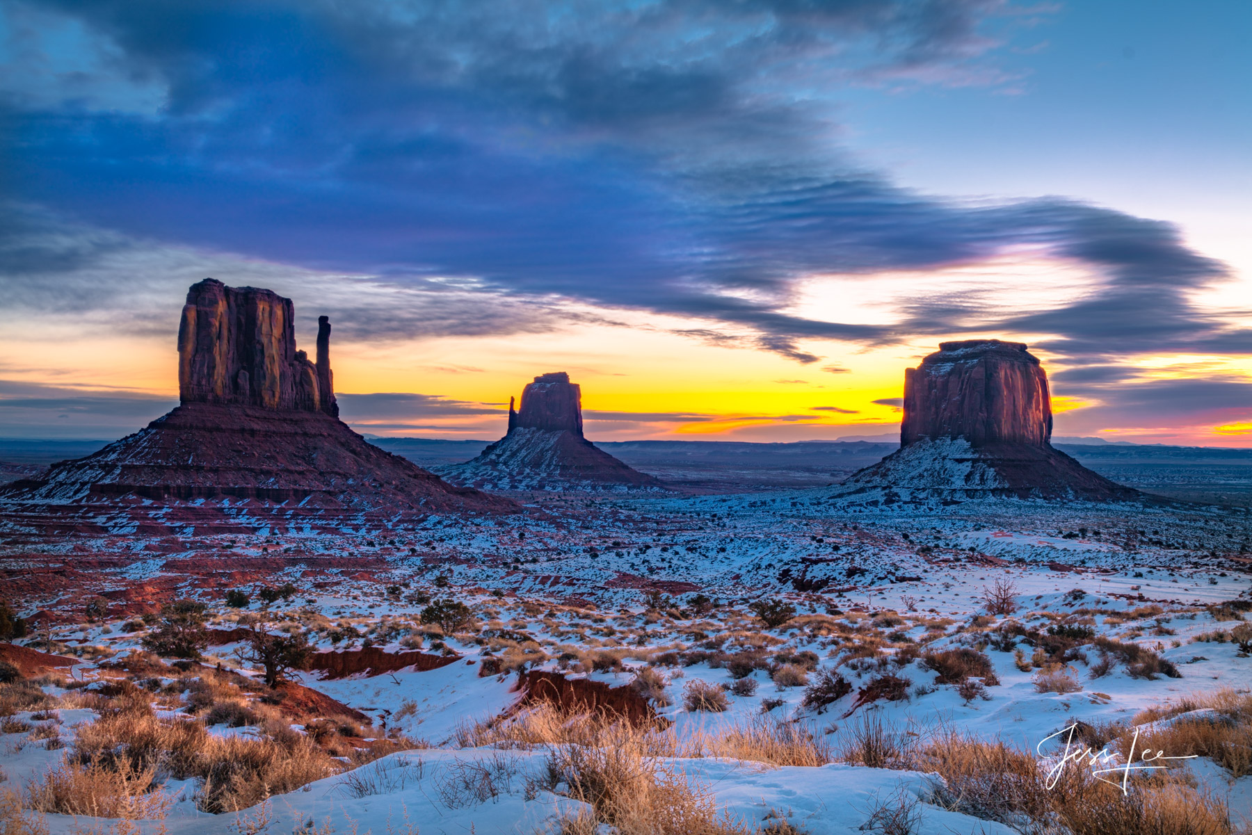 Limited Edition of 50 Exclusive high-resolution Museum Quality Fine Art Prints of Red Rocks Country. winter in the American Southwest...