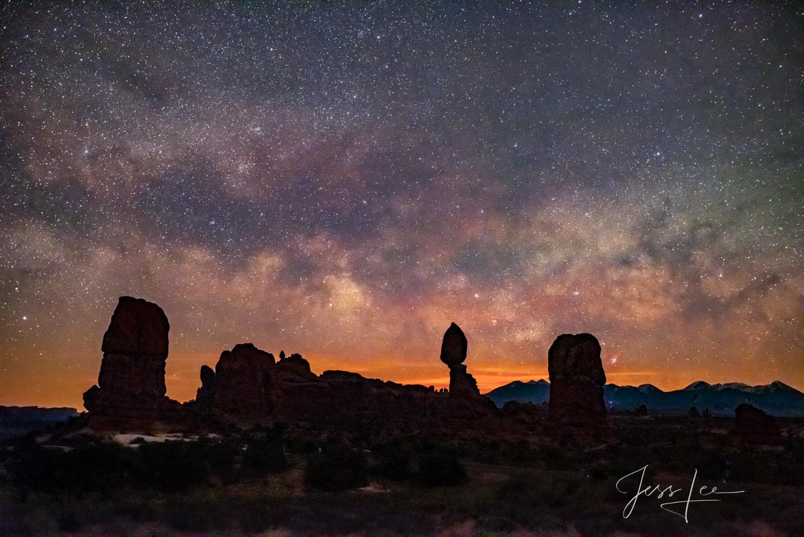FINE ART LIMITED EDITION NIGHT PHOTO PRINT OF BALANCE ROCK ARCHES NATIONAL PARK Arches Landscape photo print of Utah Landscape...