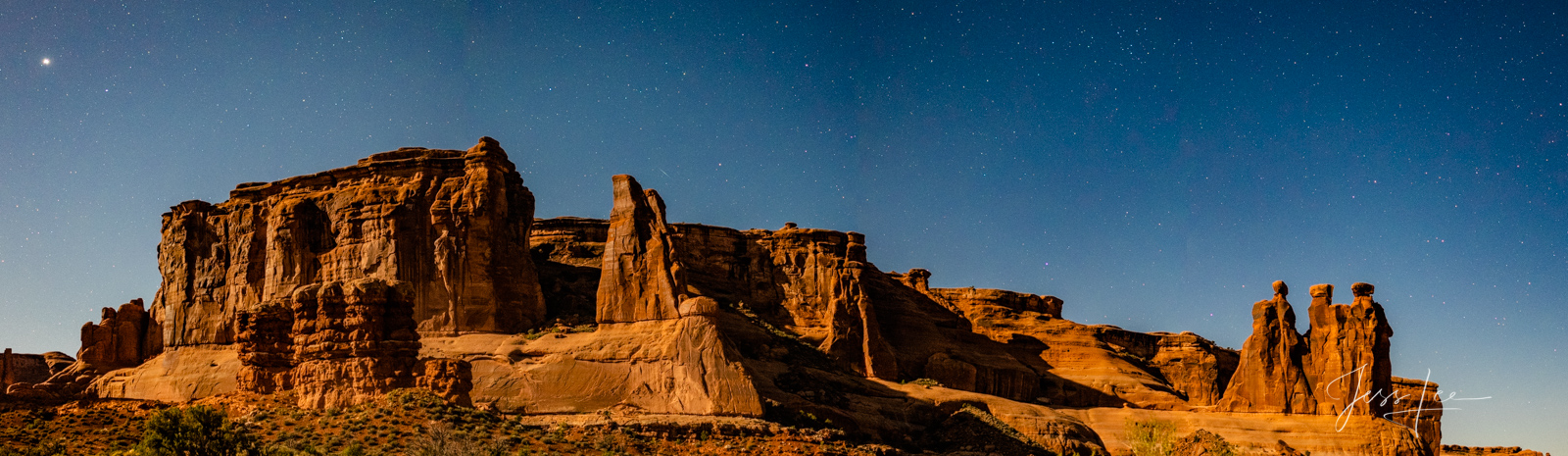 FINE ART LIMITED EDITION  PANORAMIC PRINT OF ARCHES NATIONAL PARK at NIGHT Arches Landscape photo print of Utah Landscape.This...