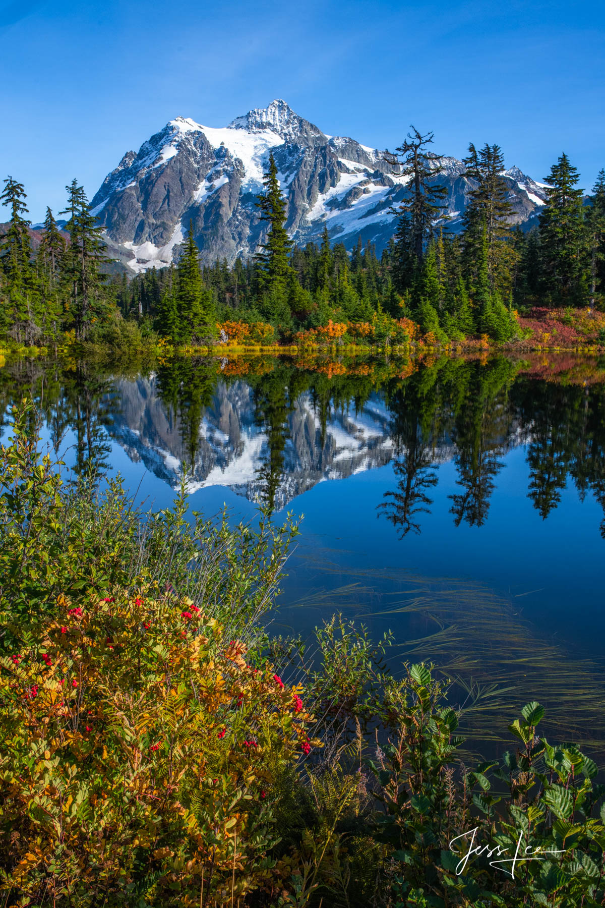 Limited Edition of 50 Exclusive high-resolution Museum Quality Fine Art Prints of Vertical lake Landscapes. Photos copyright ©...