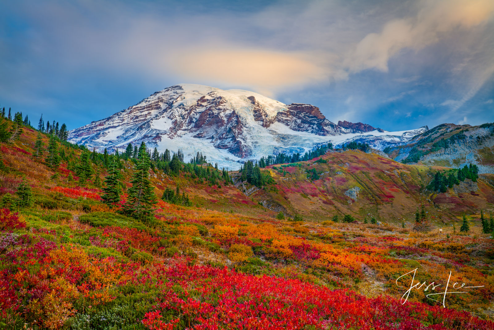 Morning on Mt Rainier before the storm