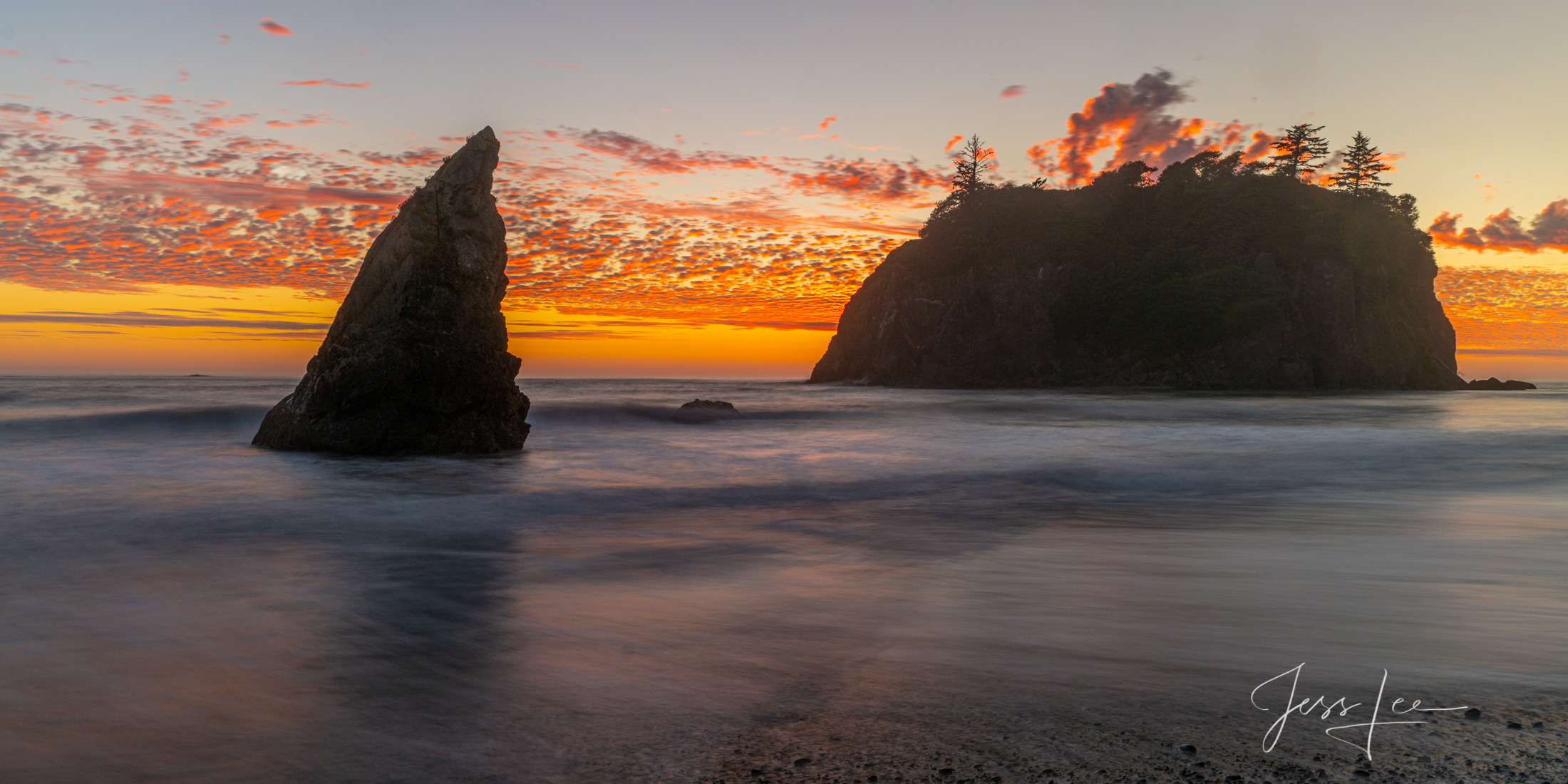 Ruby Beach Sunset a Limited Edition Fine Art Photograph of !00 prints