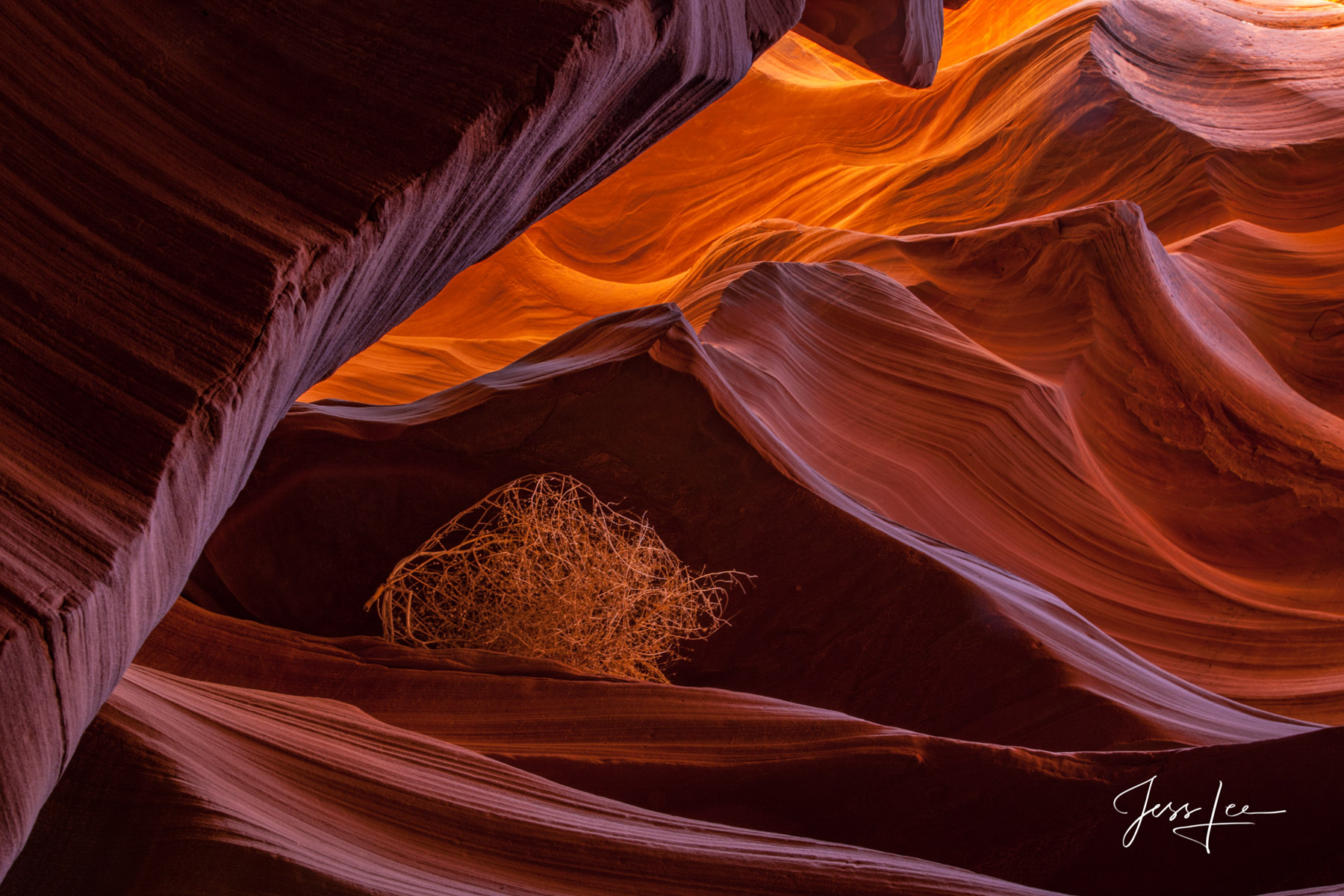 Limited Edition of 50 Exclusive high-resolution Museum Quality Fine Art Prints of Red Rocks Country Slot Canyon in the American...