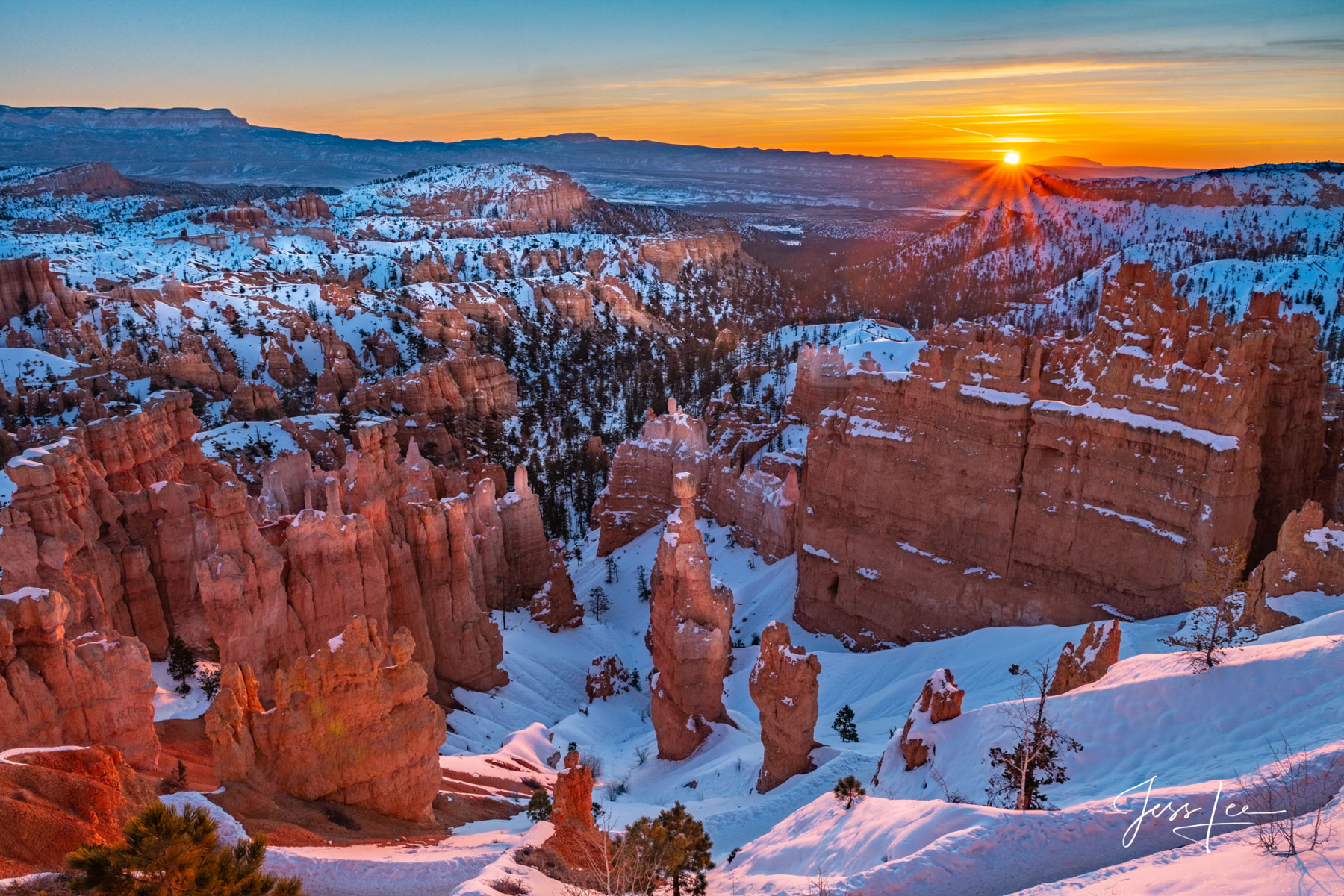 Limited Edition of 50 Exclusive high-resolution Museum Quality Fine Art Prints of Sunrise, Red Rocks Country, Bryce Canyon. Photos...