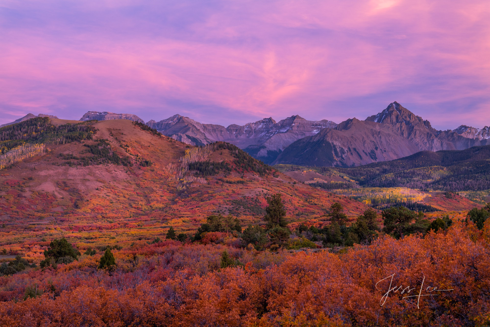A Colorado Fall Color Photography evening Print taken during the peak of Autumn Color in southeast Colorado. A limited Edition...
