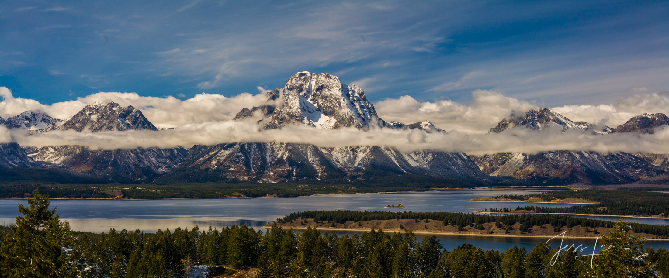 Limited Edition Fine Art photograph of Jackson Lake and Grand Teton mountain range.