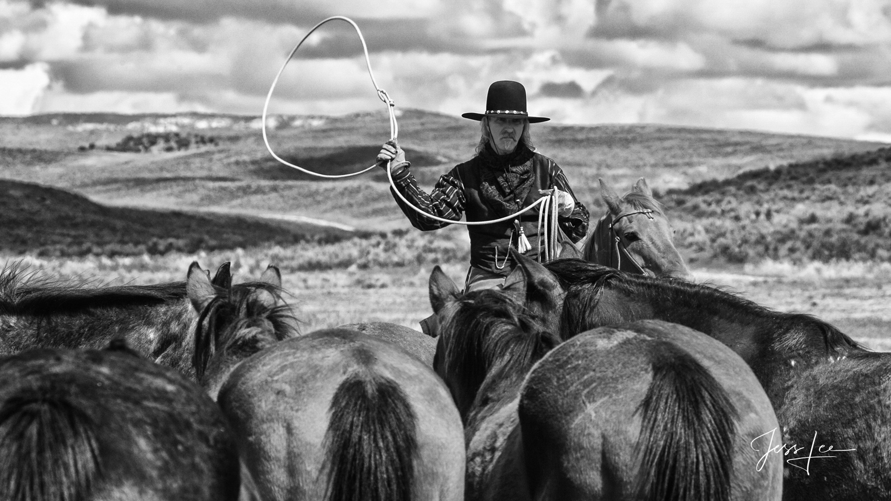 Fine Art Limited Edition Photography of Cowboys, Horses and life in the West. This Colorado cowboys lives the tradition of the...