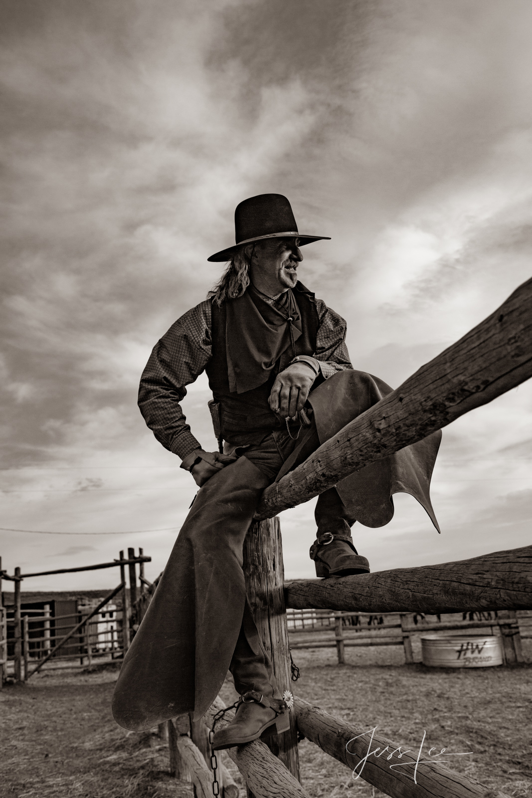 Cowboy on the fence