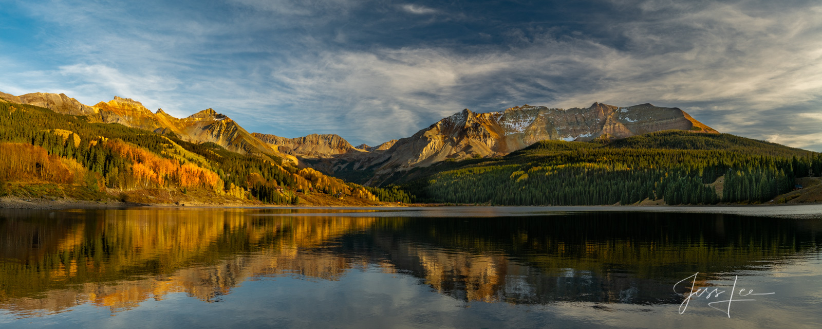 A Colorado Fall Color Photography Print of Trout Lake taken during the peak of Autumn Color in southeast Colorado. A limited...