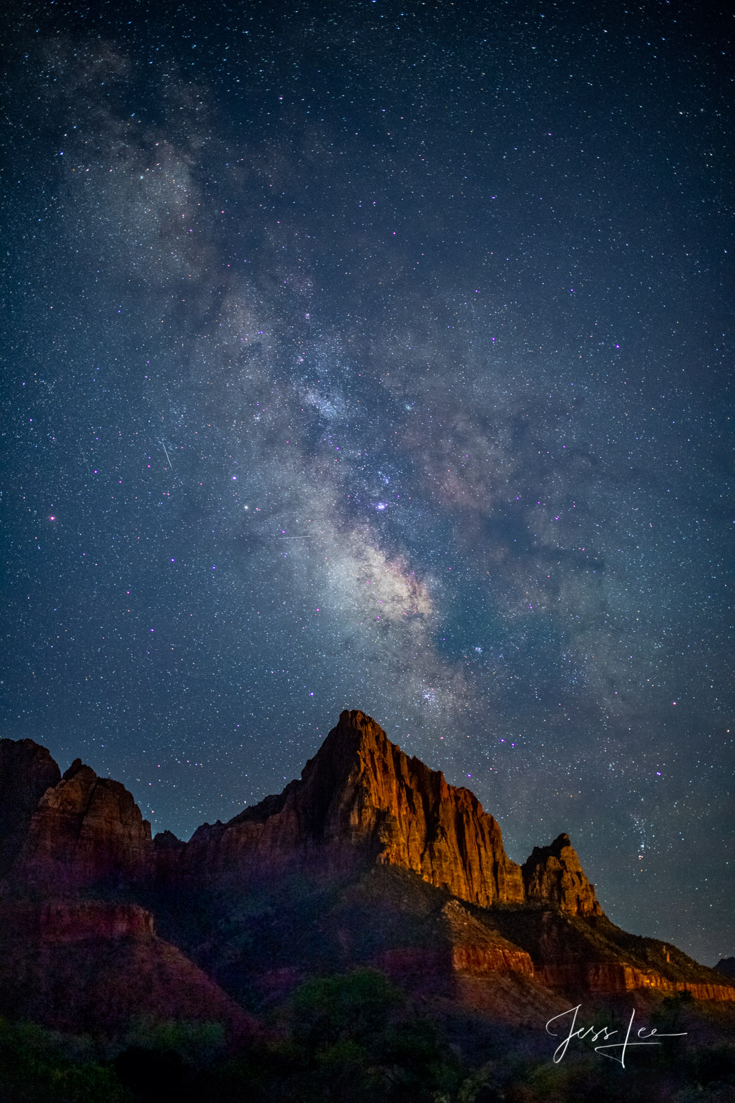 Limited Edition of 50 Exclusive high-resolution Museum Quality Fine Art Prints of the Night Sky over the Watchman in Zion National...