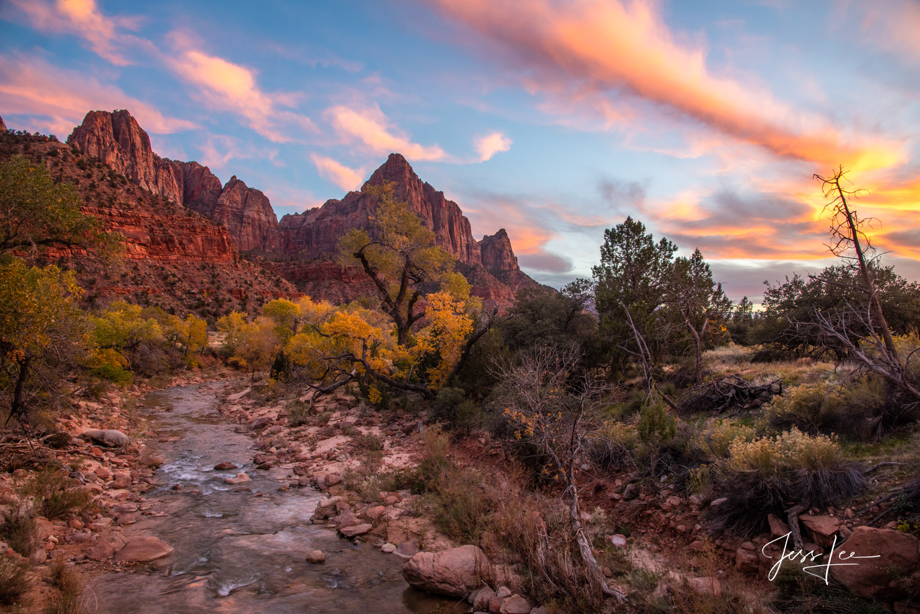 Zion Red Rocks Country in the American Southwest. Limited Edition of 50 Exclusive high-resolution Museum Quality Fine Art Photo...