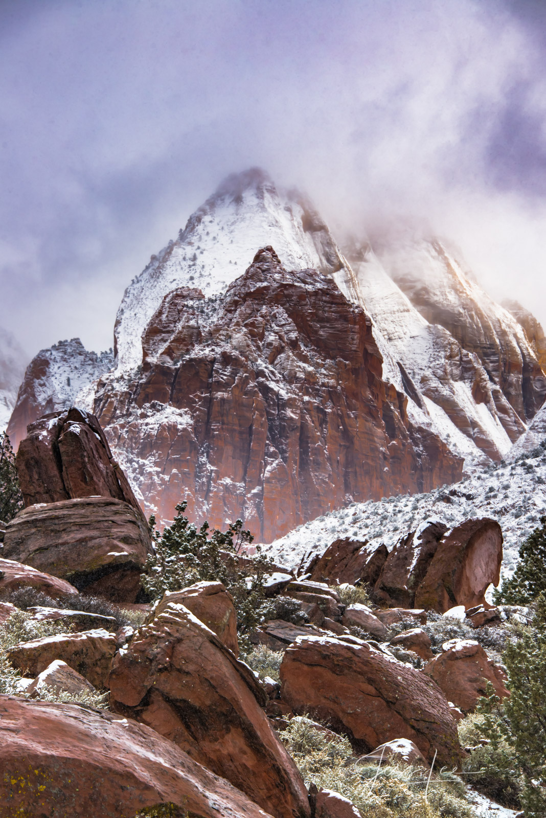 Limited Edition of 50 Exclusive high-resolution Museum Quality Fine Art Photography Prints of a storm break in Red Rocks Country...